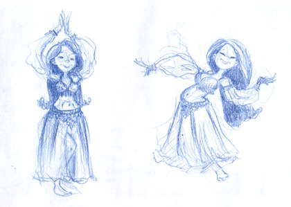 Manuela Pentangelo Sketch Belly dancing